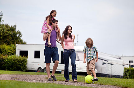 Service pitches for motorhomes and tourers