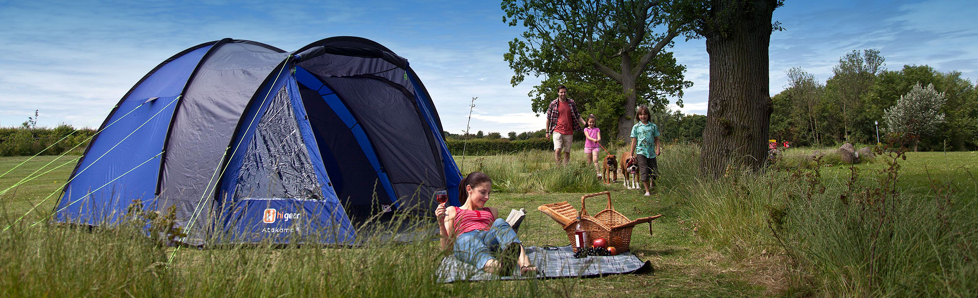 Essex campsite - pitches for tents