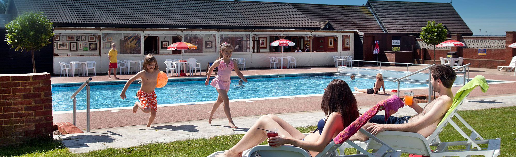 Holiday park with swimming pool Essex