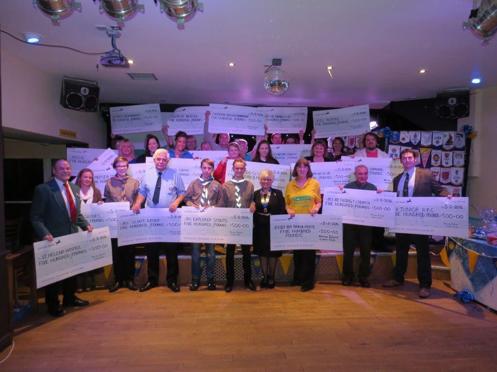epresentatives of organisations receiving donations from the Mersea Island Lions Club