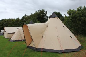 Camping tent hire on Mersea Island, Essex